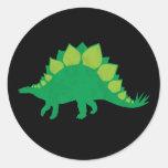 Stegosaurus Pegatina Redonda