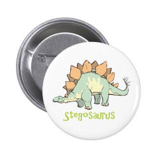 Stegosaurus Pin Redondo De 2 Pulgadas