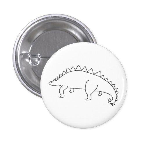 Stegosaurus Pinback Buttons