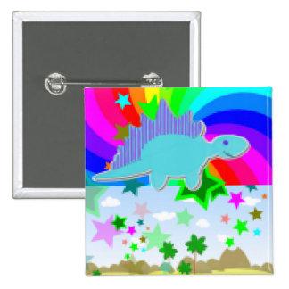 Stegosaurus Pixel Dinosaur Pins