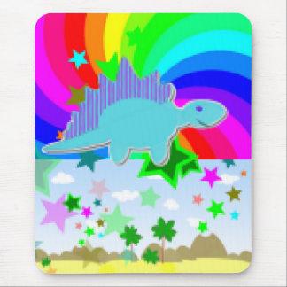 Stegosaurus Pixel Dinosaur Mouse Pad