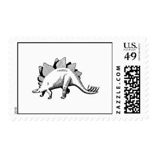 Stegosaurus Postage Stamp