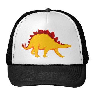 Stegosaurus rojo y amarillo gorras de camionero