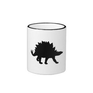 Stegosaurus Silhouette Ringer Mug