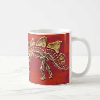 Stegosaurus Skeleton Classic White Coffee Mug