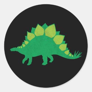 Stegosaurus Round Stickers