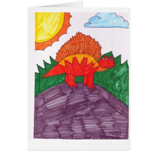 Stegosaurus Tarjeta De Felicitación