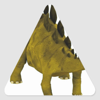 Stegosaurus Triangle Sticker