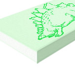 Stegosaurus verde impresiones en lona estiradas