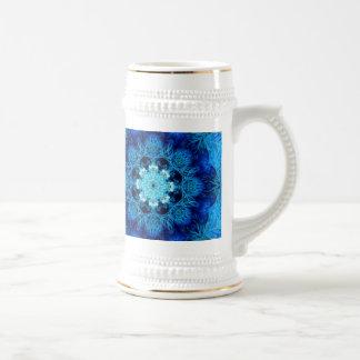 Stein abstracto coralino azul jarra de cerveza
