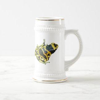 Stein amarillo de la cerveza de la rana de la flec jarra de cerveza