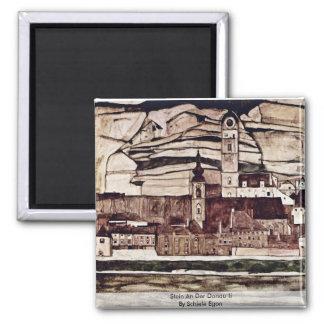 Stein An Der Donau Ii By Schiele Egon Fridge Magnet