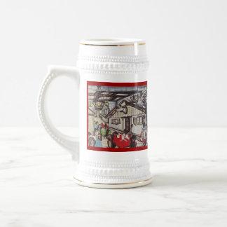 Stein - anuncio del restaurante de la barra del ho tazas de café