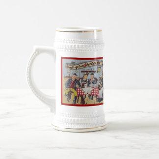 Stein - anuncio del restaurante de la barra del ho tazas
