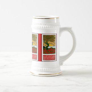 Stein:  Art Nouveau Poster - La Libre Esthetique Beer Stein