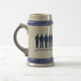 Stein azul de la cerveza del soltero conocido de e jarra de cerveza