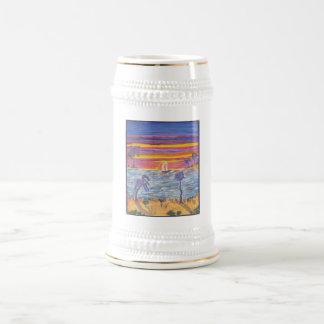 Stein - bahía de la puesta del sol taza de café