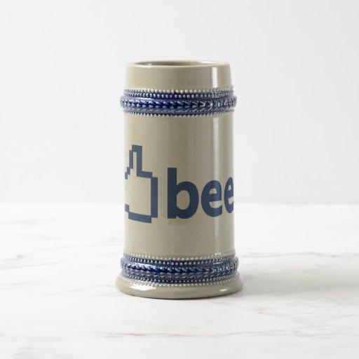 Stein beer like Facebook 18 Oz Beer Stein
