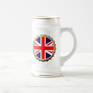Stein británico de la cerveza jarra de cerveza