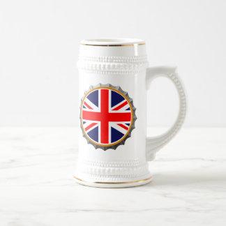 Stein británico de la cerveza taza