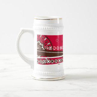 Stein con el ornamento popular taza de café