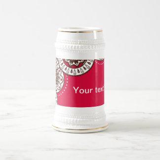 Stein con el ornamento popular tazas de café