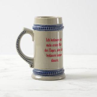 Stein con la cita alemana taza de café
