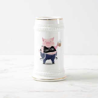 Stein con la imagen divertida del cerdo jarra de cerveza