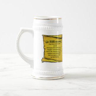 Stein de bendición irlandés tazas de café