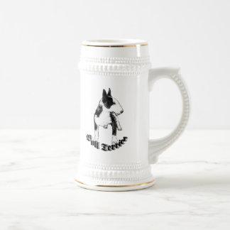 Stein de bull terrier jarra de cerveza