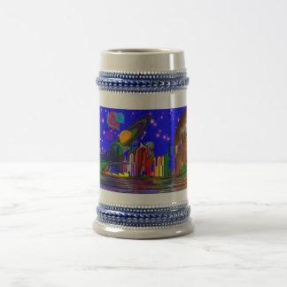 Stein de cerámica helado espacio jarra de cerveza