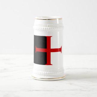 Stein de la bandera de Templar Jarra De Cerveza