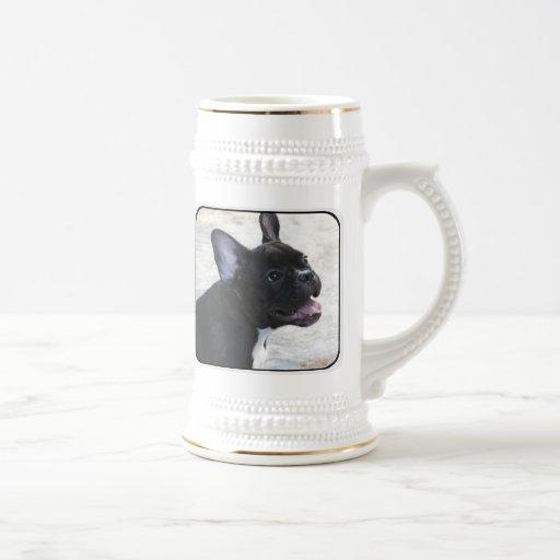 Stein de la cerveza del dogo francés jarra de cerveza