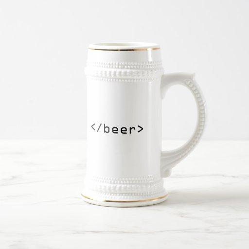 Stein de la cerveza del HTML Jarra De Cerveza