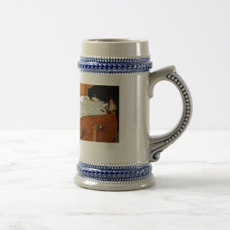 Stein de la cerveza, maleta, embalaje, día de jarra de cerveza