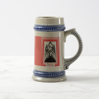 Stein de la silueta del navidad jarra de cerveza