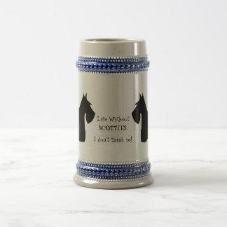 Stein de la silueta del negro del perro de Terrier Jarra De Cerveza