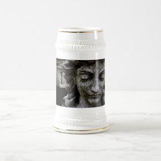 Stein de piedra triste jarra de cerveza