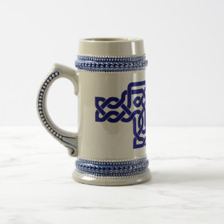 Stein decorated with knotwork