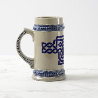 Stein decorated with knotwork 18 oz beer stein