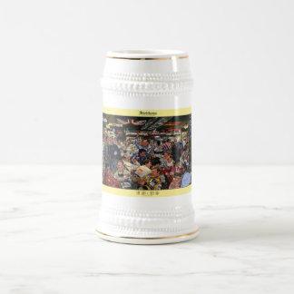 """Stein del arte de la """"barra abierta pasada"""" de jarra de cerveza"""