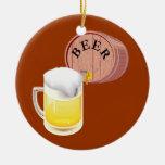 Stein del barrilete de cerveza y de la cerveza adornos de navidad