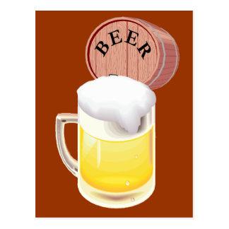 Stein del barrilete de cerveza y de la cerveza postal