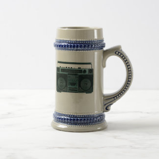 stein estéreo retro jarra de cerveza