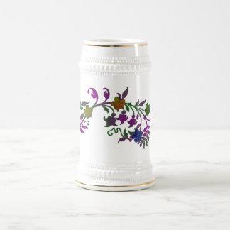 Stein floral jarra de cerveza