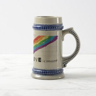 Stein gris inocente jarra de cerveza