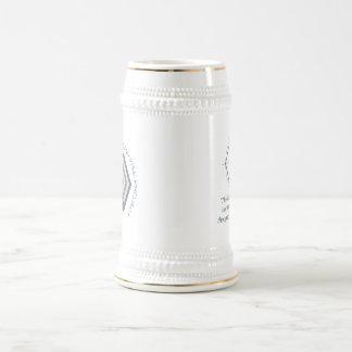 Stein hexagonal de Euclid de la conciencia Jarra De Cerveza