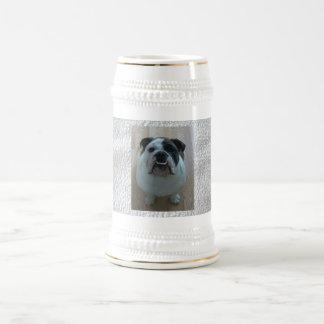 Stein inglés de la cerveza del dogo jarra de cerveza