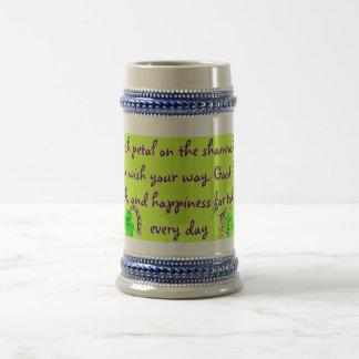Stein irlandés de la bendición jarra de cerveza