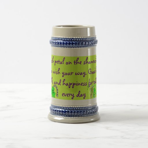 Stein irlandés de la bendición taza de café